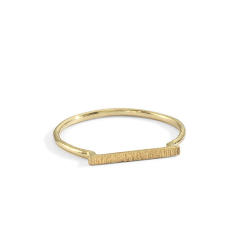 matte dainty stacking ring