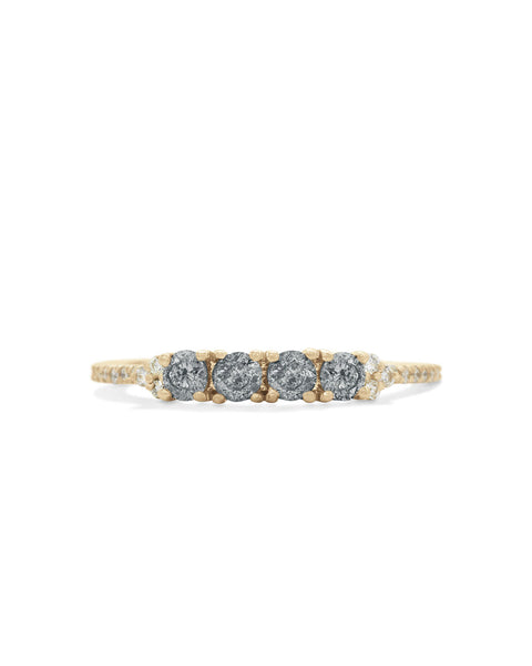 gray diamond ophelia ring