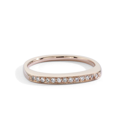 rose gold tall stacking ring | blanca monrós gómez