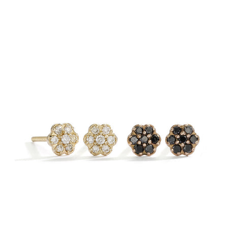 small rosette diamond studs