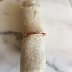 cognac diamond tall stacking ring | blanca monrós gómez