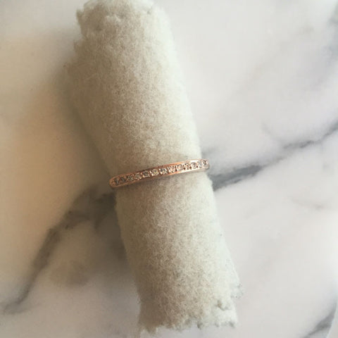 rose gold tall stacking ring