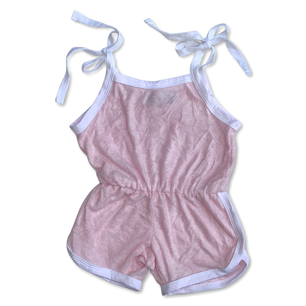 Sol Baby Light Pink Terry Short Romper