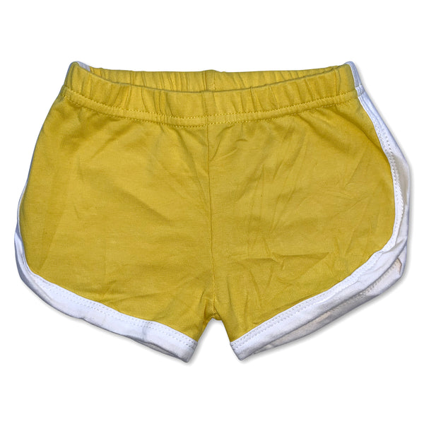 Sol Baby Yellow Retro Gym Shorts