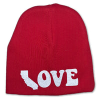 Sol Baby Red CA Love Beanie