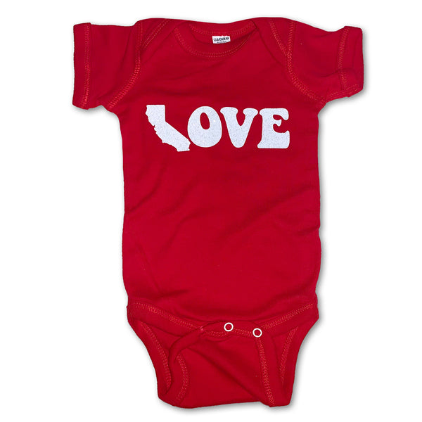 Sol Baby California Love Red Bodysuit