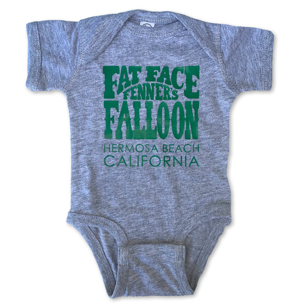 Sol Baby Fat Face Fenners Falloon Hermosa Beach Gray Bodysuit