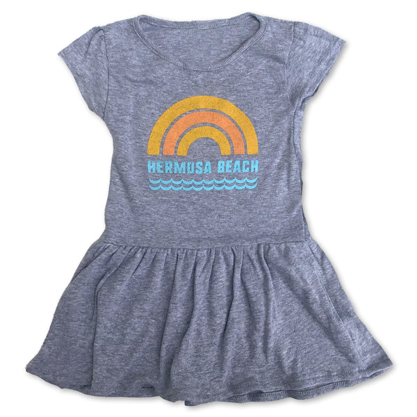 Sol Baby Hermosa Beach Rainbow Gray Heather Dress