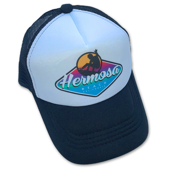 Sol Baby Surf Hermosa Beach Badge Trucker Hat