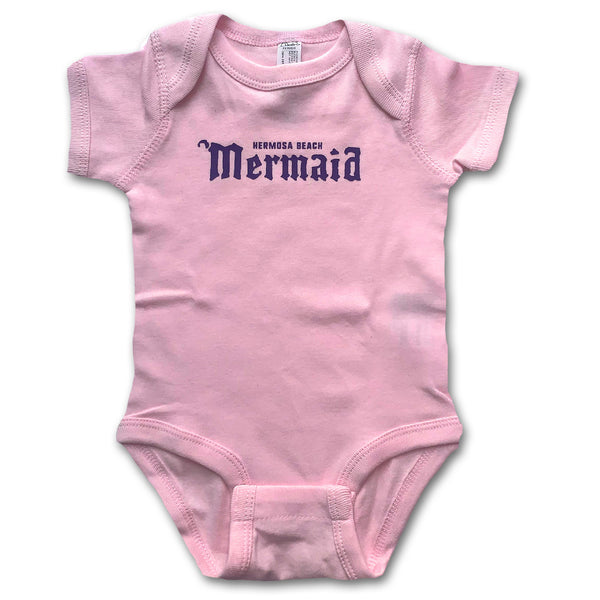 Sol Baby Hermosa Beach Mermaid Pink Onesie