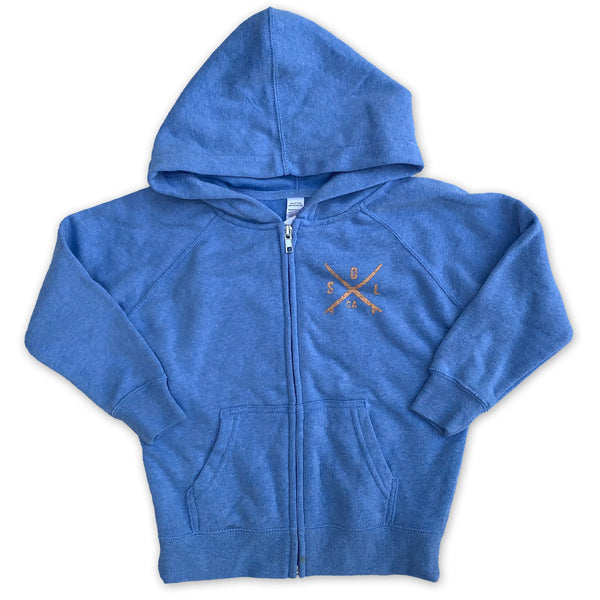Sol Baby Hermosa Beach Rainbow Blue Zip Up Hoodie