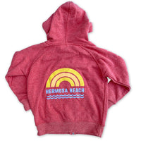 Sol Baby Hermosa Beach Rainbow Red Zip Up Hoodie