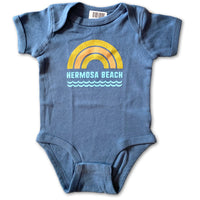 Sol Baby Hermosa Beach Rainbow Waves Indigo Bodysuit