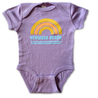 Sol Baby Hermosa Beach Rainbow Waves Lavender Bodysuit