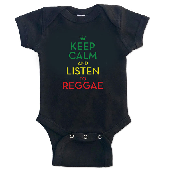 Sol Baby Keep Calm and Listen to Reggae Bodysuit
