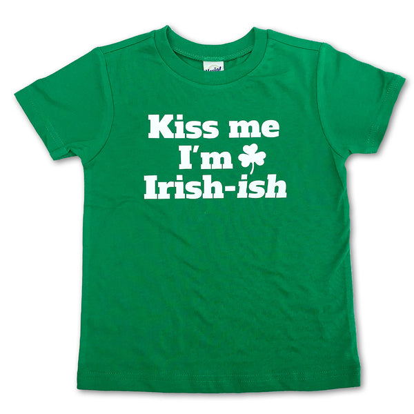 Sol Baby 'Kiss Me I'm Irish-ish' Green Tee
