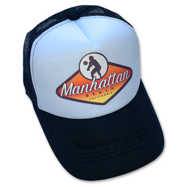 Manhattan Beach Volleyball Badge Trucker Hat