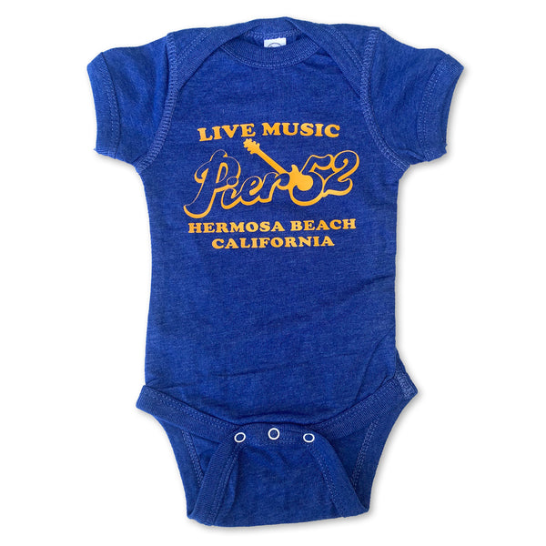 Sol Baby Pier 52 Hermosa Beach Vintage Royal Bodysuit
