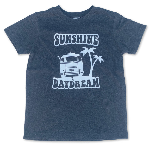 Sol Baby Sunshine Daydream Charcoal Gray Tee