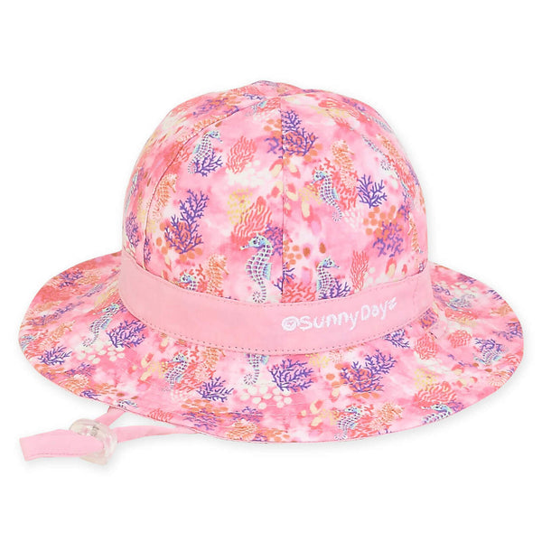 Sunny Dayz Infant Seahorse and Coral Reversible Sun Hat