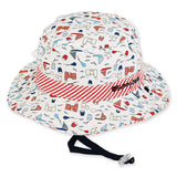 Sunny Dayz Infant Castle and Sailboats Reversible Bucket Sun Hat