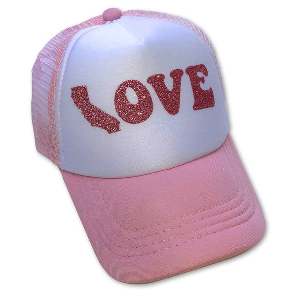 California Love Rose Gold Glitter Trucker Hat