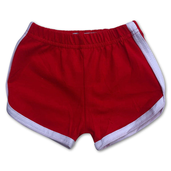 Retro Old School Infant/Toddler Red Gym Shorts