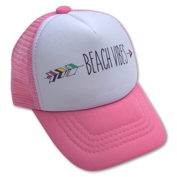 Sol Baby Beach Vibes Arrow Pink Trucker Hat