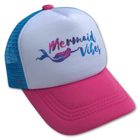 Sol Baby Mermaid Vibes Aqua Pink Trucker Hat