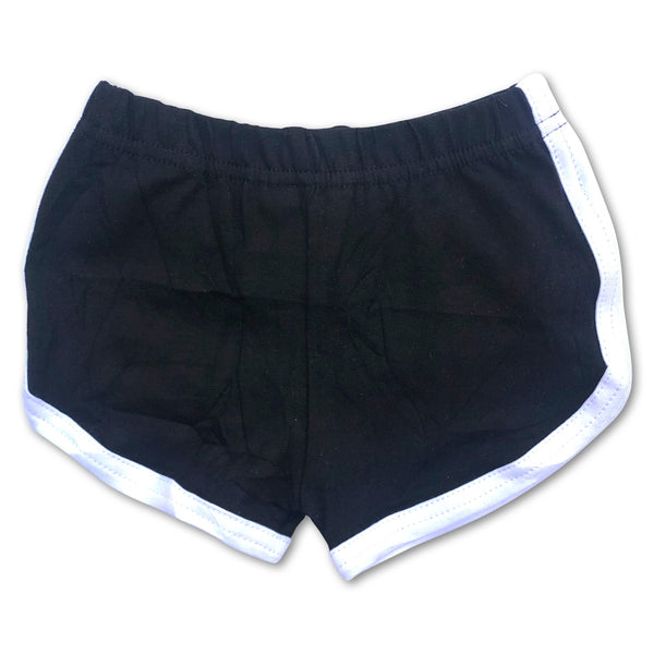 Sol Baby Retro Gym Shorts Black