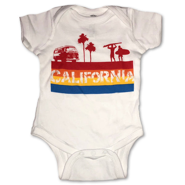 Sol Baby California 4-Color Stripe Bodysuit