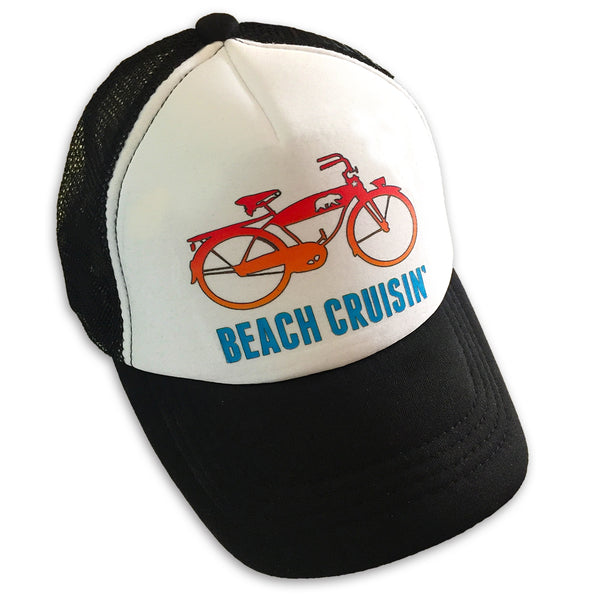 Sol Baby Beach Cruisin' Bicycle Black Infant/Kids Trucker Hat