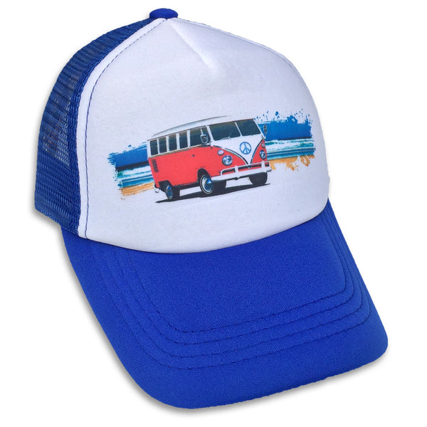 Sol Baby Beach Scene Surf Bus Trucker Hat