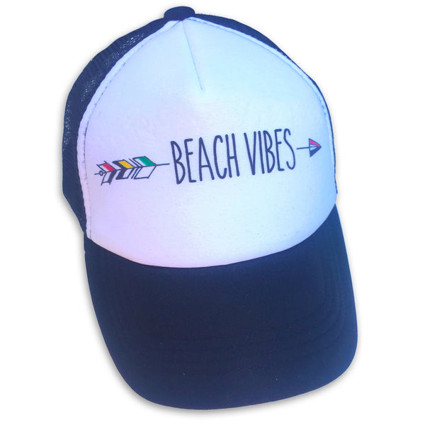 Sol Baby Beach Vibes Black Trucker Hat