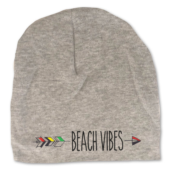 Beach Vibes Infant Baby Gray Beanie