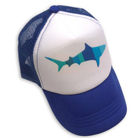 Sol Baby Blue Stripe Shark Trucker Hat