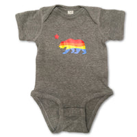 Sol Baby California Bear Heather Gray Bodysuit