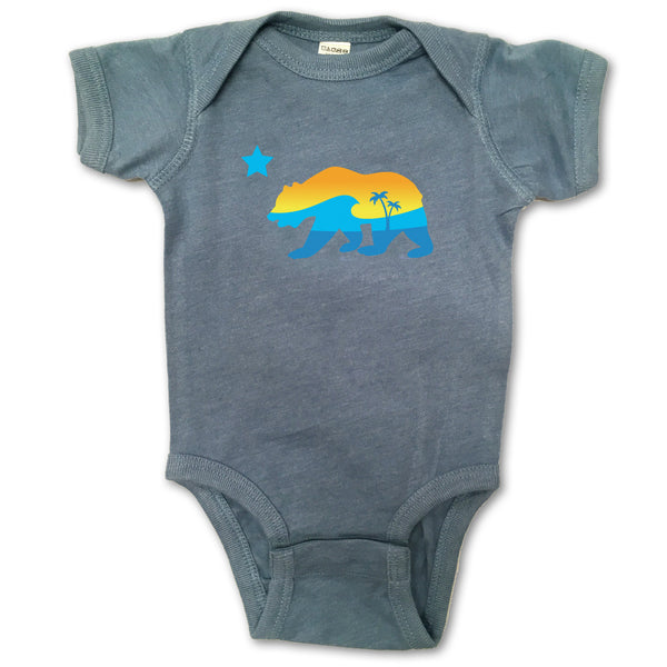 Sol Baby California Bear Indigo Bodysuit