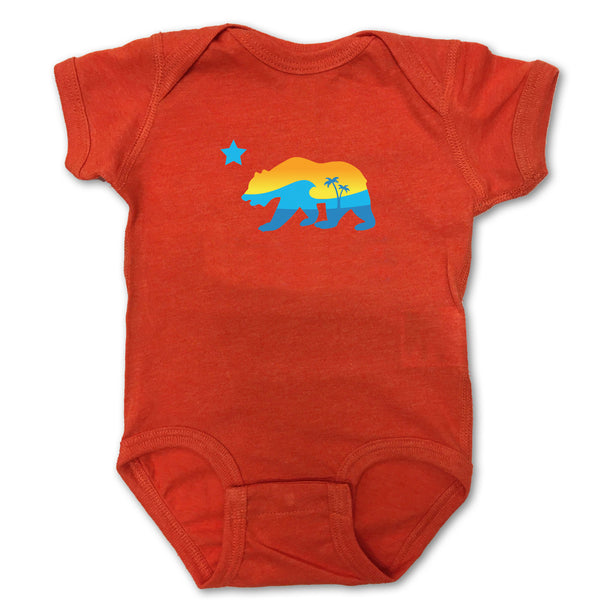 Sol Baby California Bear Orange Bodysuit