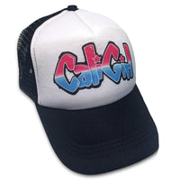 Sol Baby Cali Girl Graffiti Black Trucker Hat