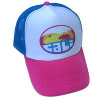 Sol Baby California Mountain Wave Aqua Trucker Hat