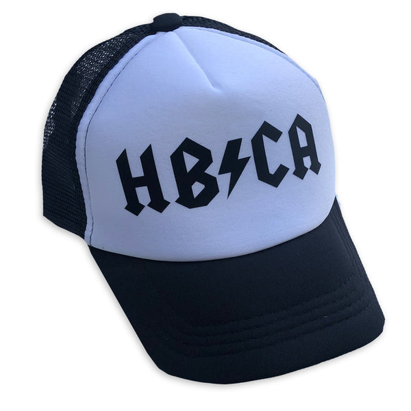 Sol Baby HB/CA Hermosa Beach Black Trucker Hat