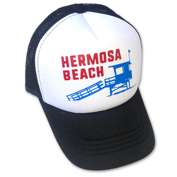 Sol Baby Hermosa Beach Lifeguard Tower Trucker Hat