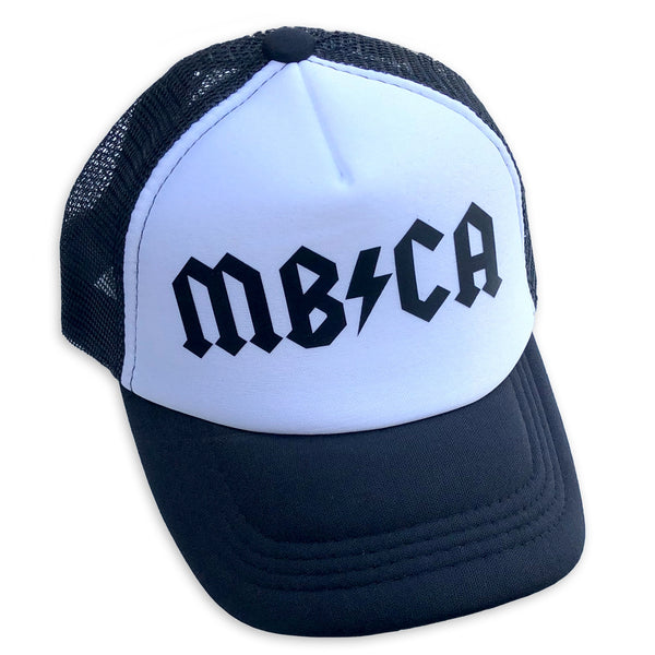 Sol Baby MB/CA Manhattan Beach Black Trucker Hat