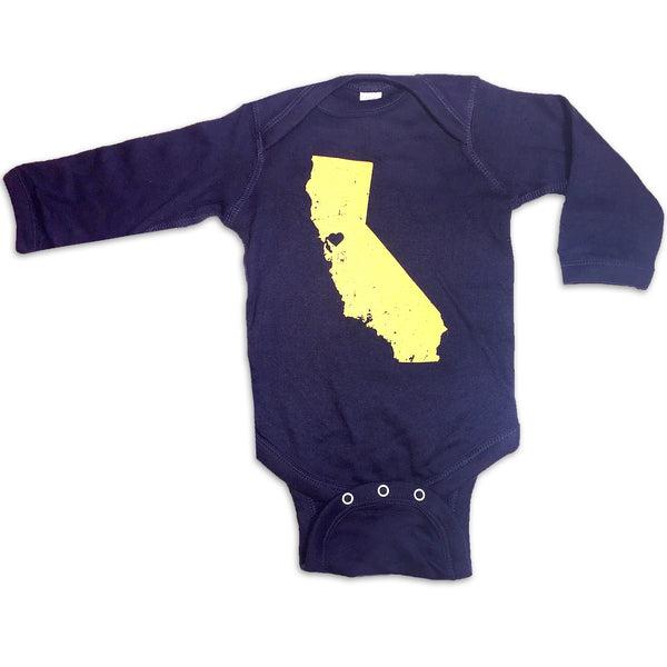 Sol Baby Northern California Love Longsleeve Royal Blue Bodysuit