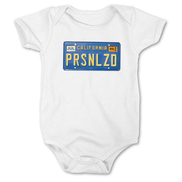 Sol Baby Personalized California License Plate Bodysuit