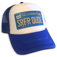 Sol Baby Surfer Dude California License Plate Trucker Hat