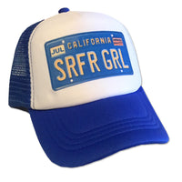 Sol Baby Surfer Girl California License Plate Trucker Hat