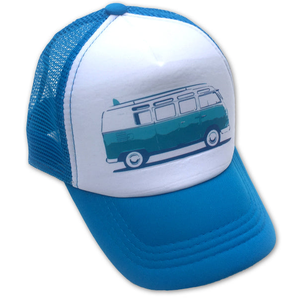 Sol Baby Surf Bus Aqua Trucker Hat
