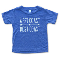 Sol Baby West Coast Best Coast Blue Tee